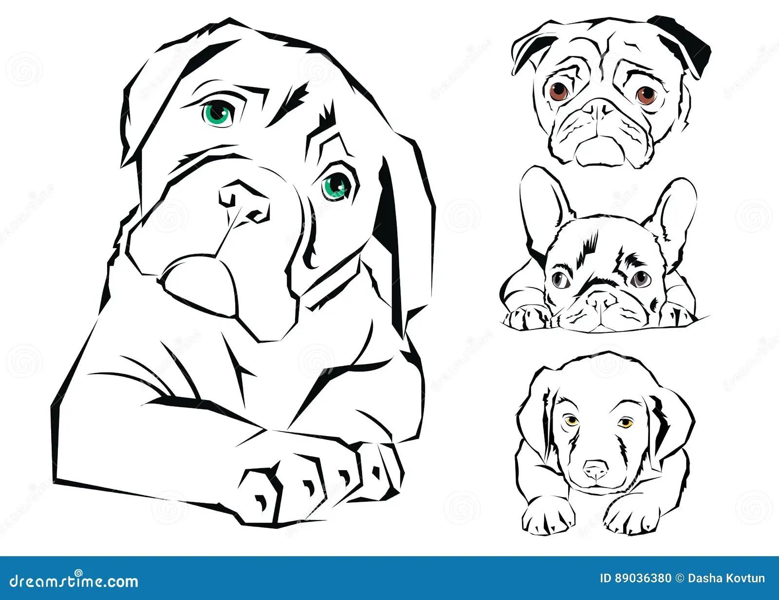 Icon Design Dog Vector Emblem Illustration Stock Vector