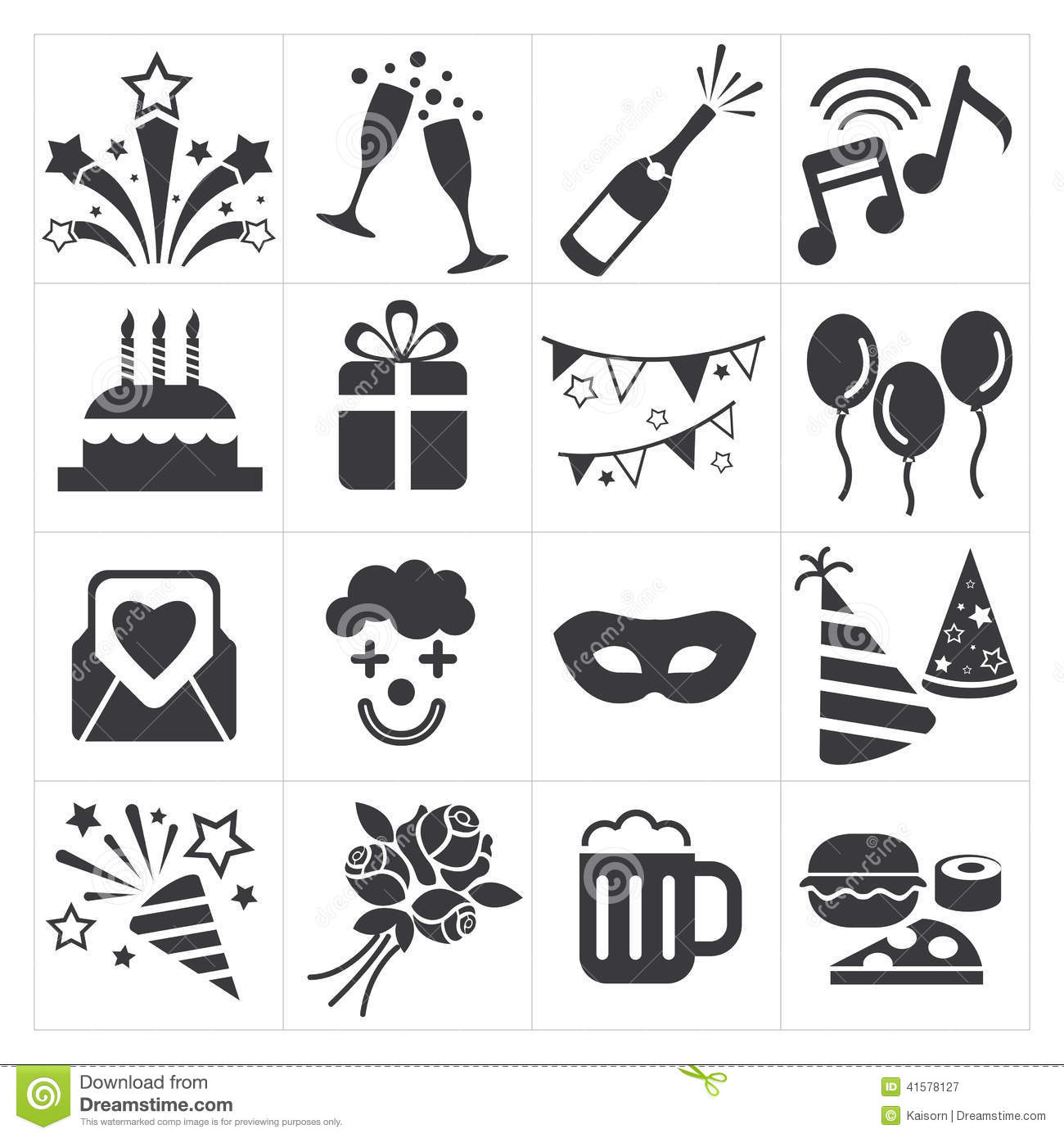 Icon Party Celebrate Stock Vector Illustration Of