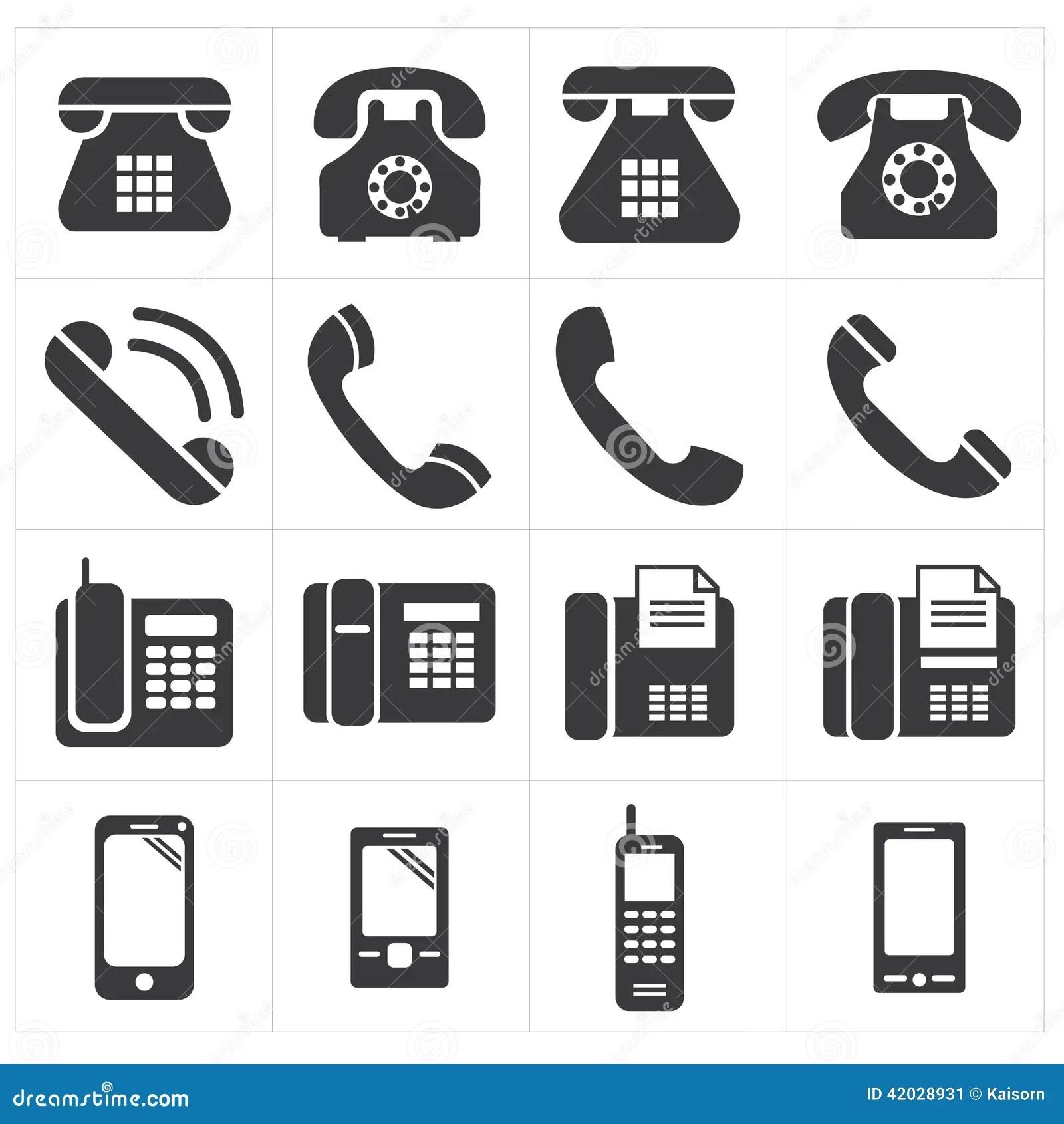 Icon Telephone Classic To Smartphone Stock Vector