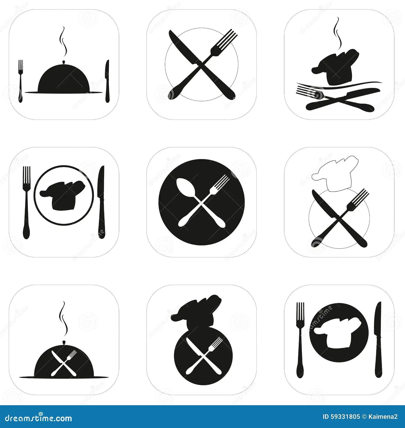 Icon Vector Illustration Food Restaurant Icons Logo
