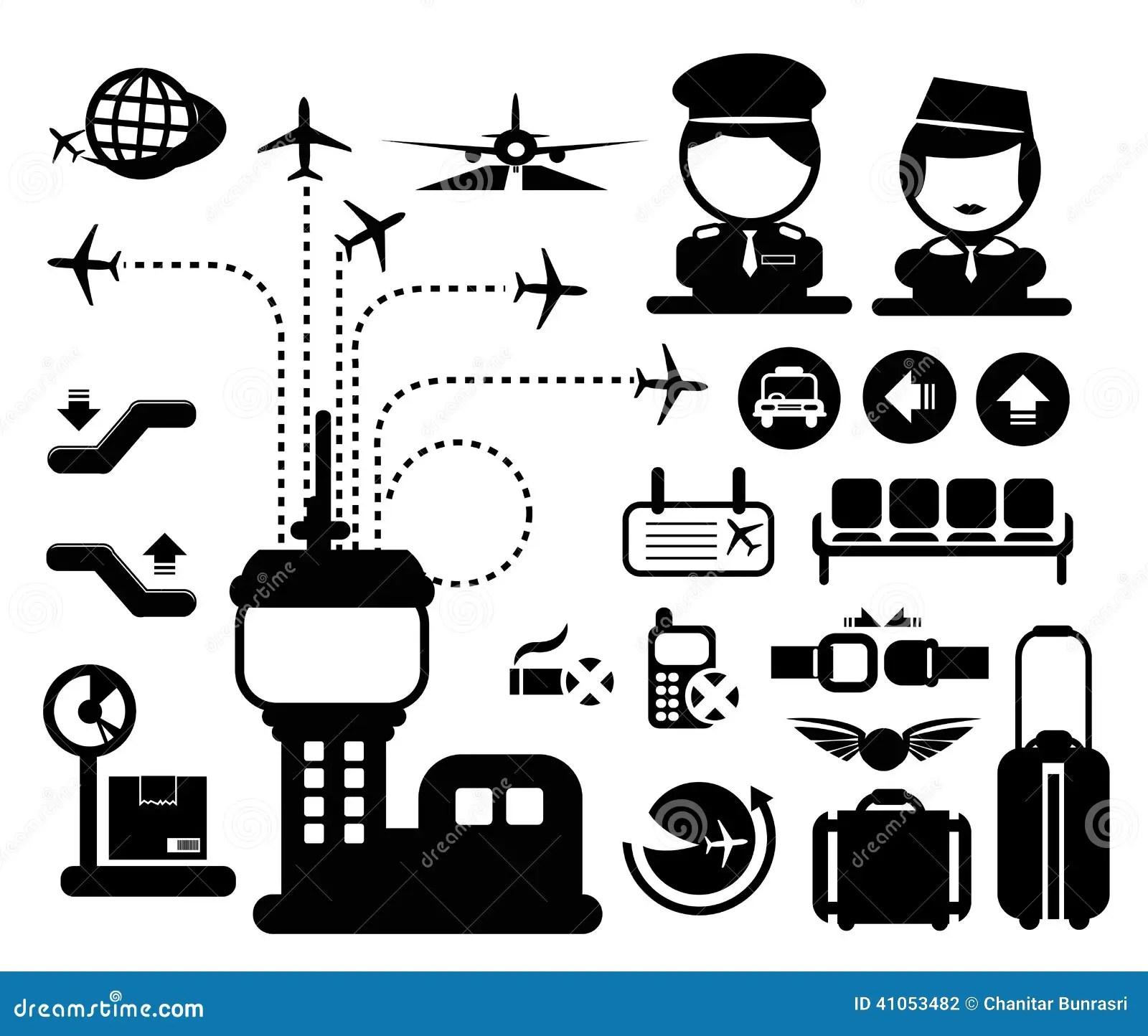 Icona Dell Aeroporto Di Vettore Illustrazione Vettoriale