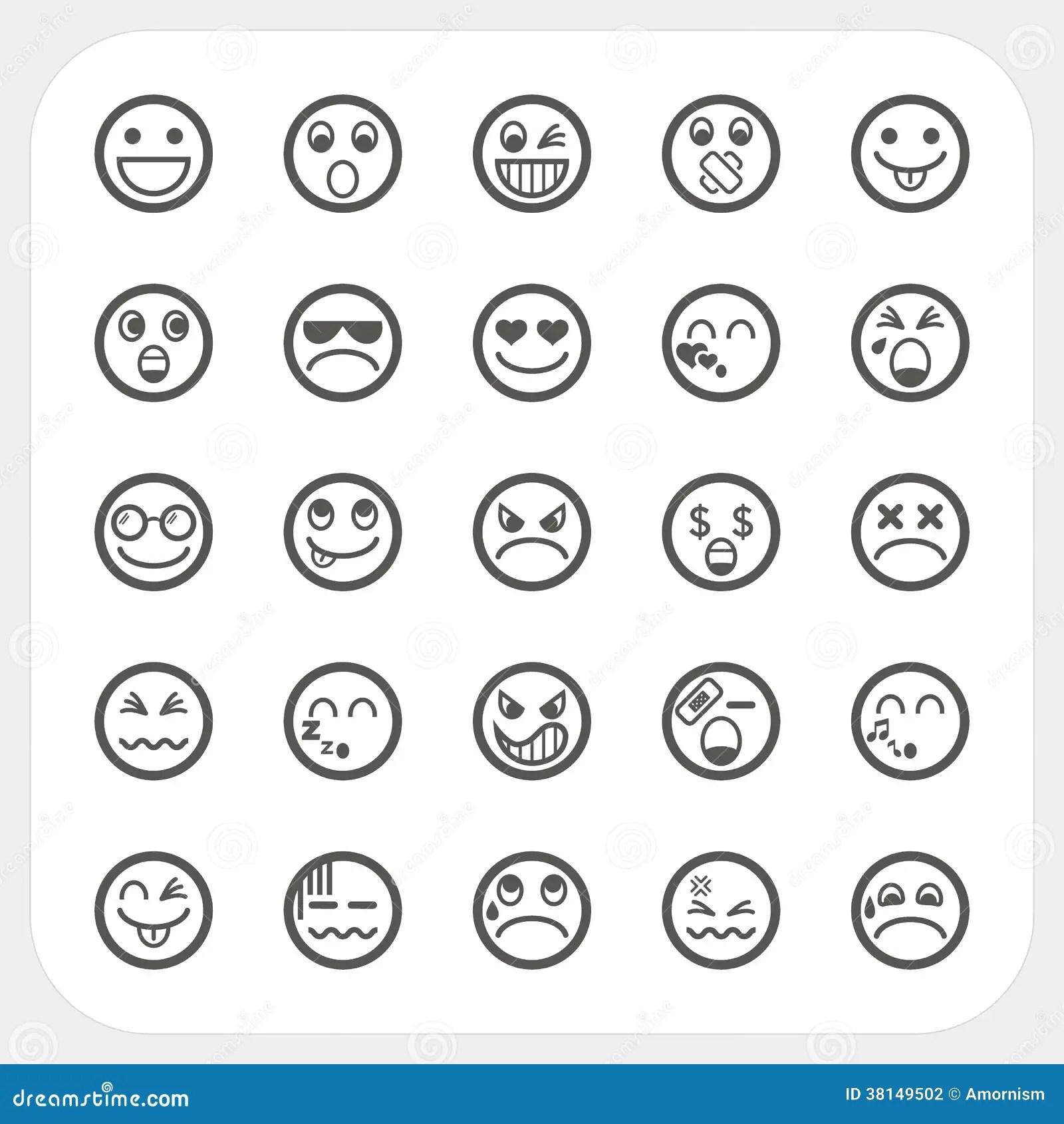 Iconos De La Cara De La Emocion Fijados Ilustracion Del