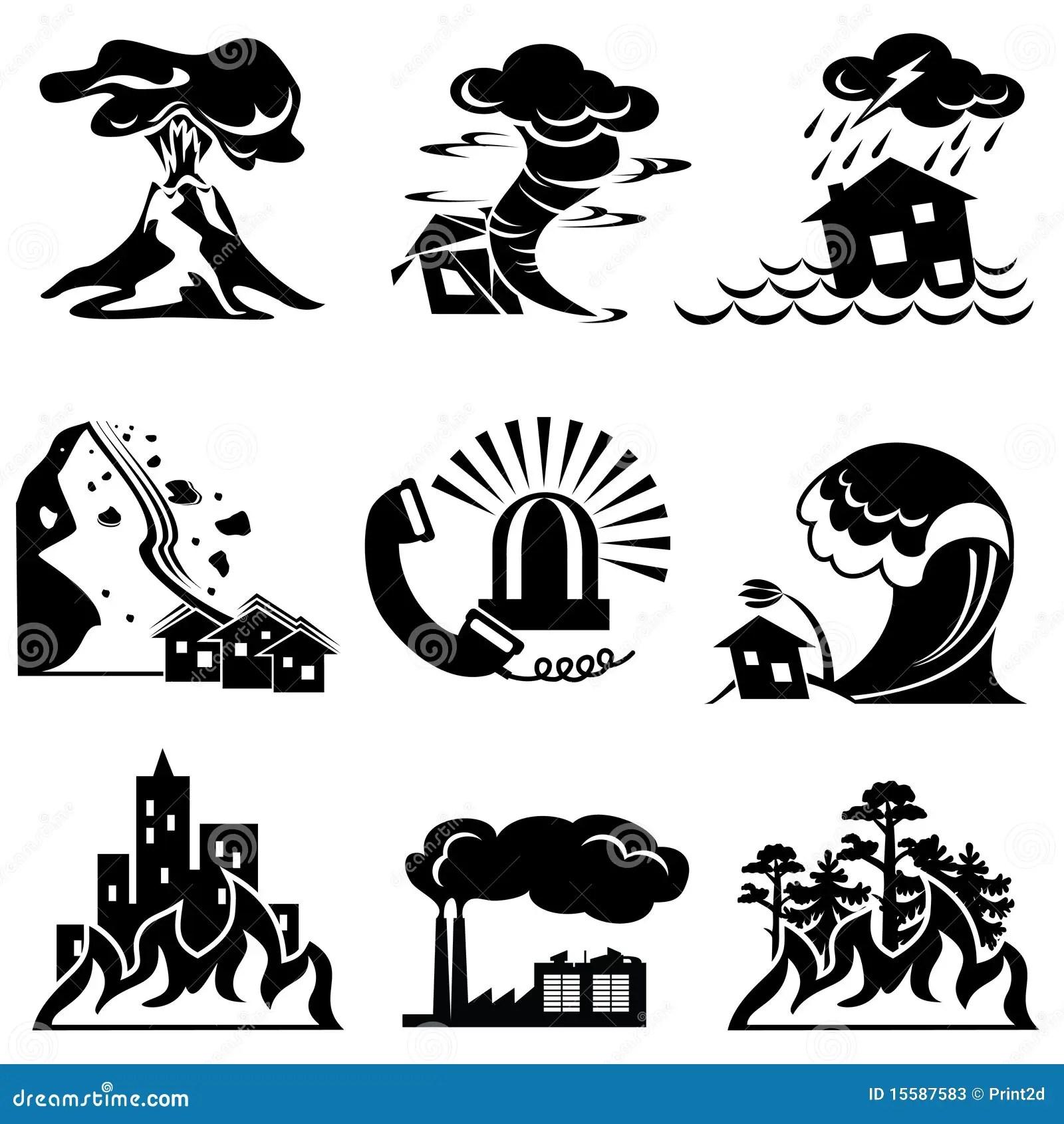 Iconos Del Desastre Natural Ilustracion Del Vector