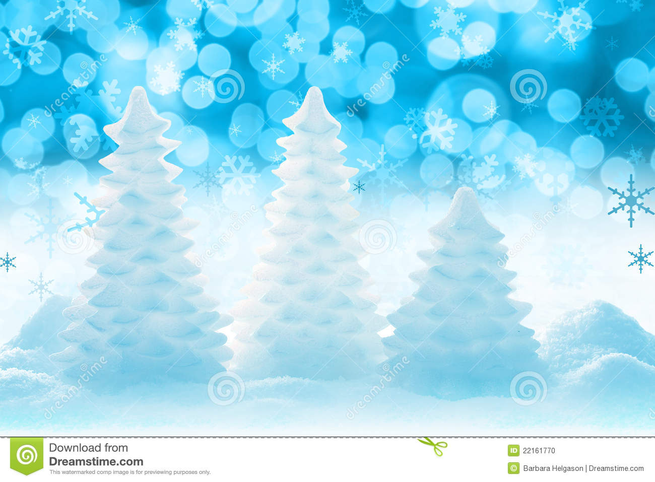 Icy Christmas Tree Stock Photo Image 22161770