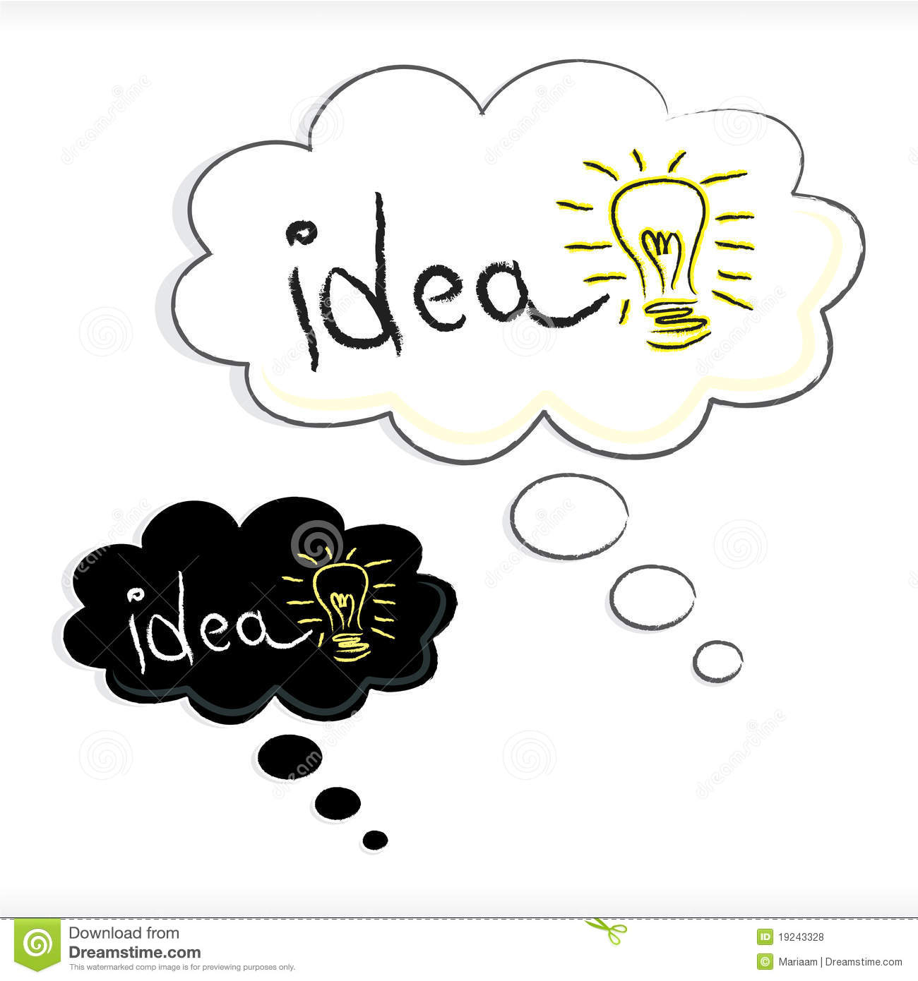 Idea In Thought Bubble Royalty Free Stock Photos