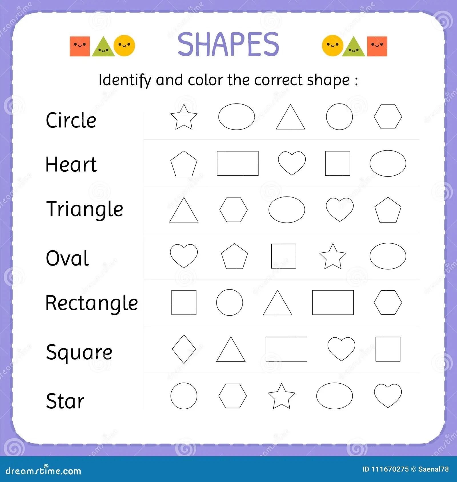 Identifique Y Coloree La Forma Correcta Aprenda Las Formas Y Las Figuras Geometricas Preescolar