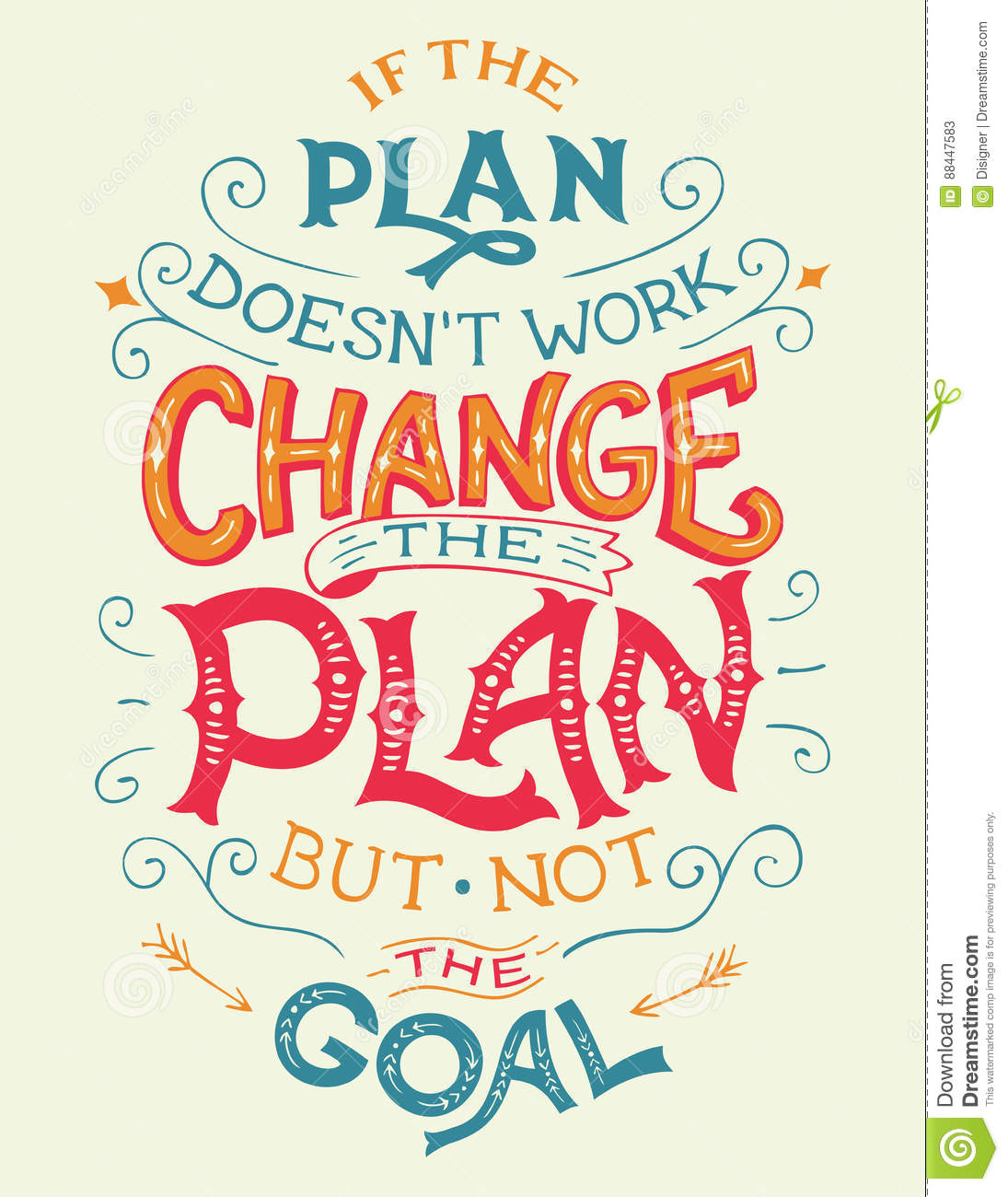 If The Plan Doesn T Work Change The Plan Quote Stock