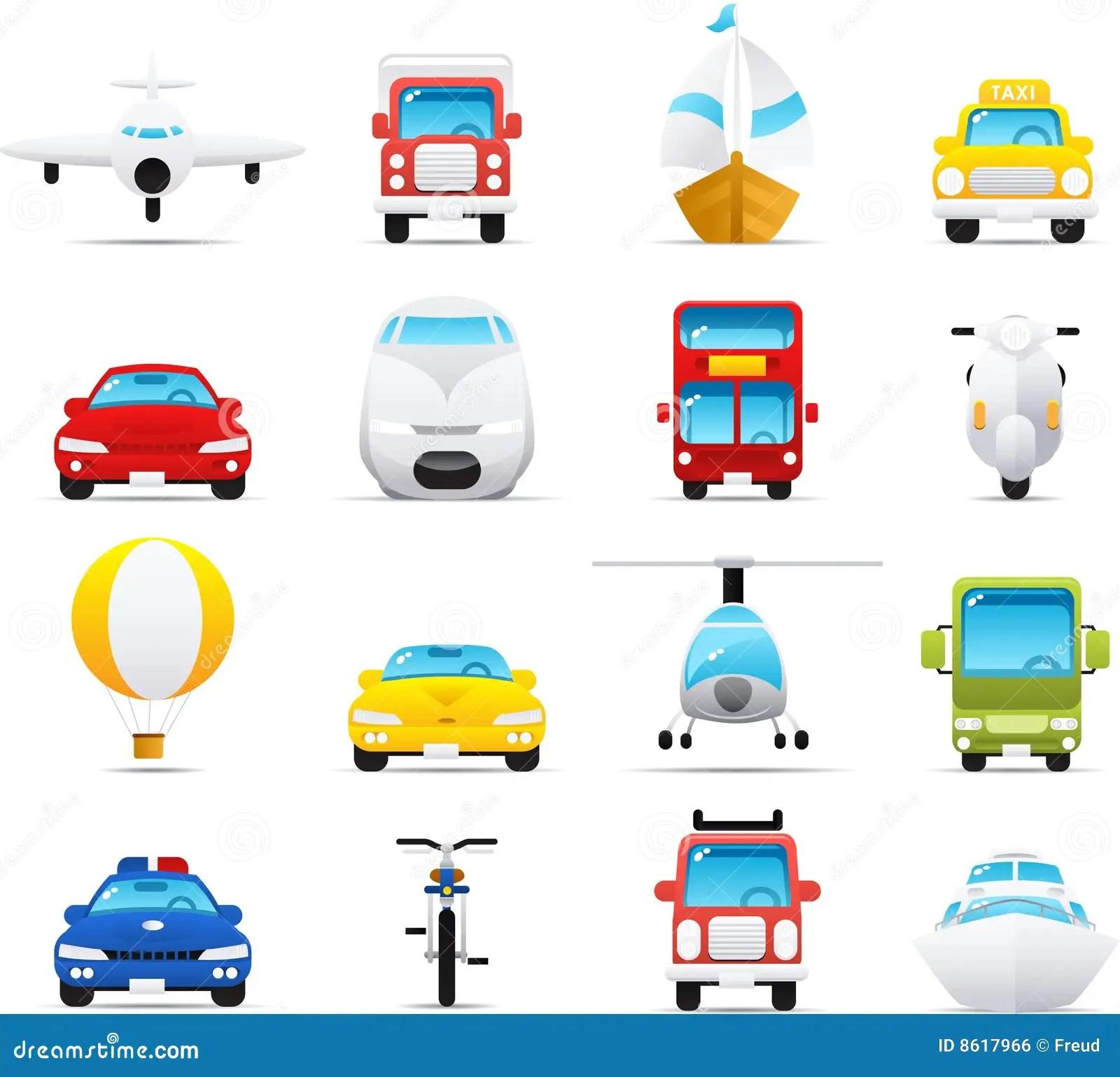 Ikony Nouve Ustaleni Transporty Ilustracja Wektor