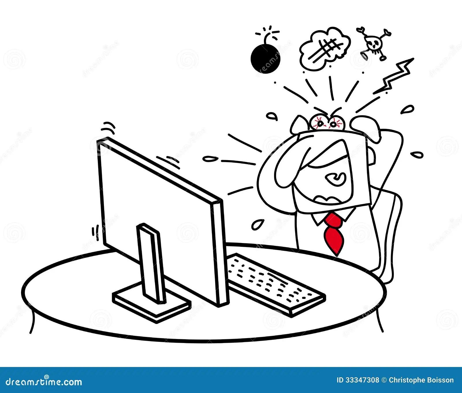 Il Mio Computer Mi Rende Pazzo Illustrazione Vettoriale