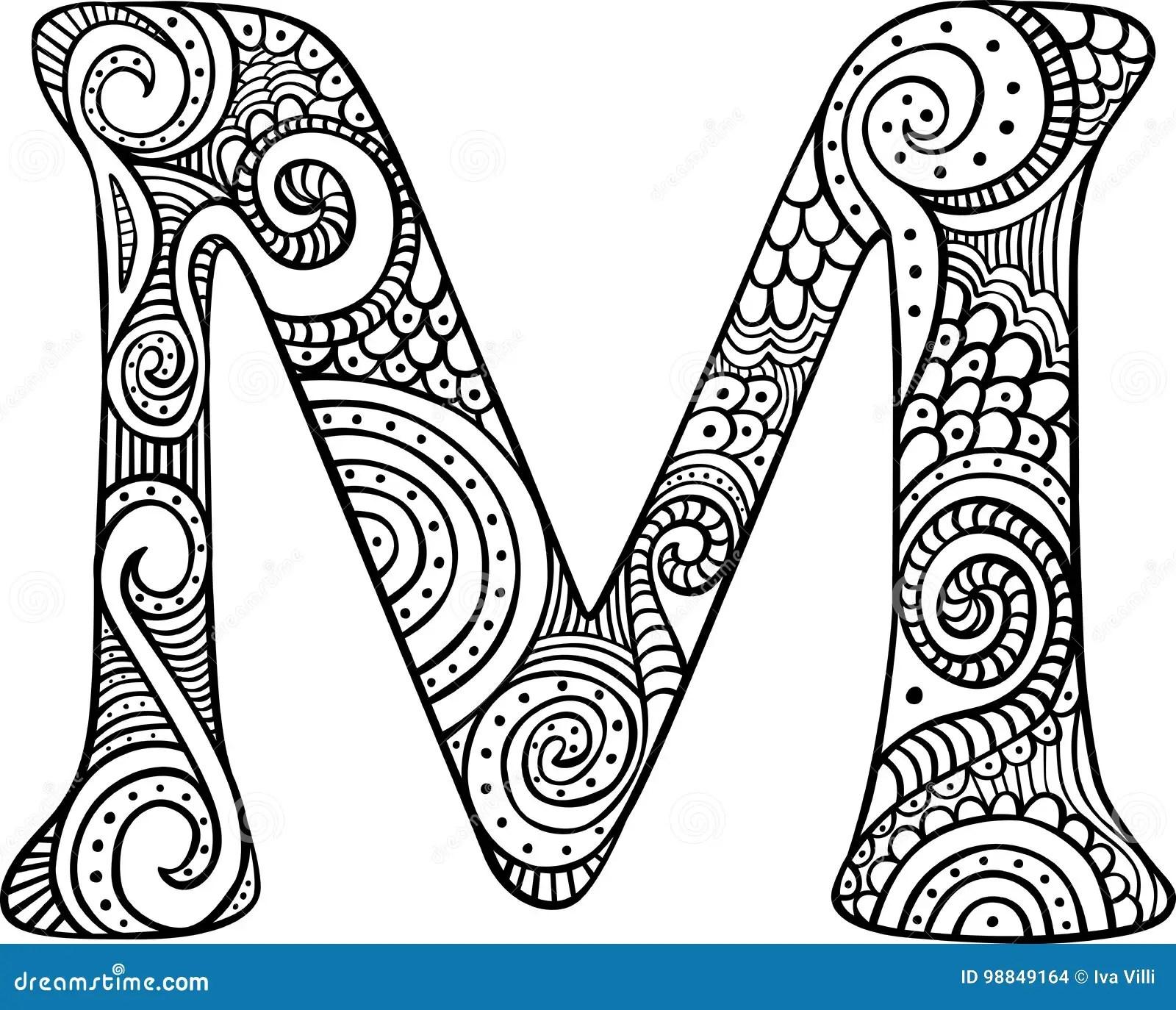 Illustrated Letter M Stock Vector Illustration Of Header