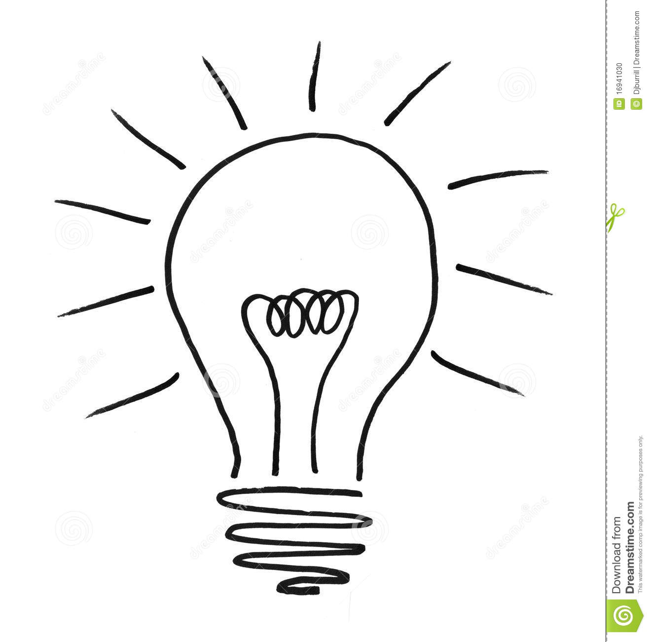 Illustrated Lightbulb Stock Photo Image Of Thought