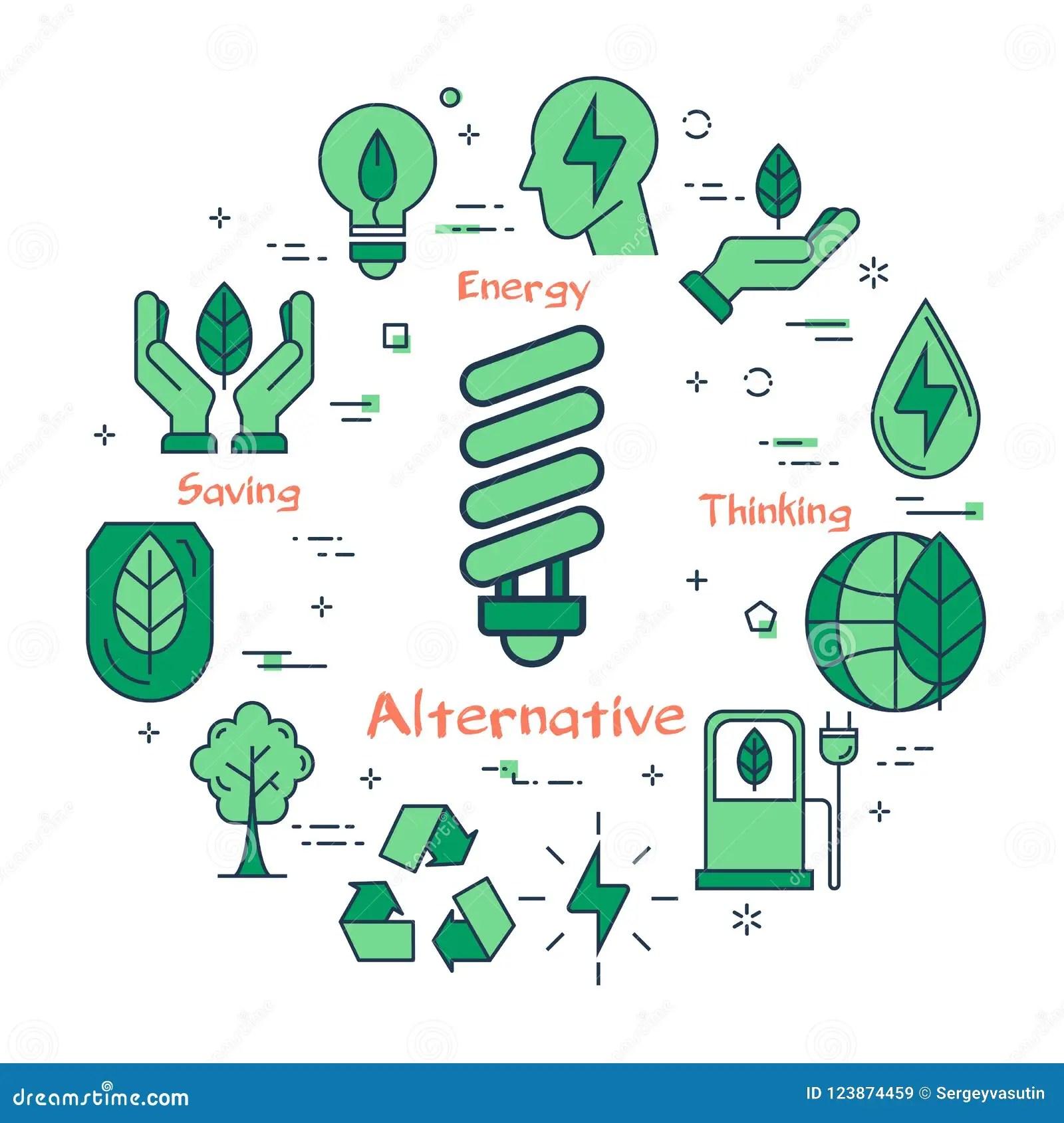 Illustration Of Alternative Energy Source Stock Vector