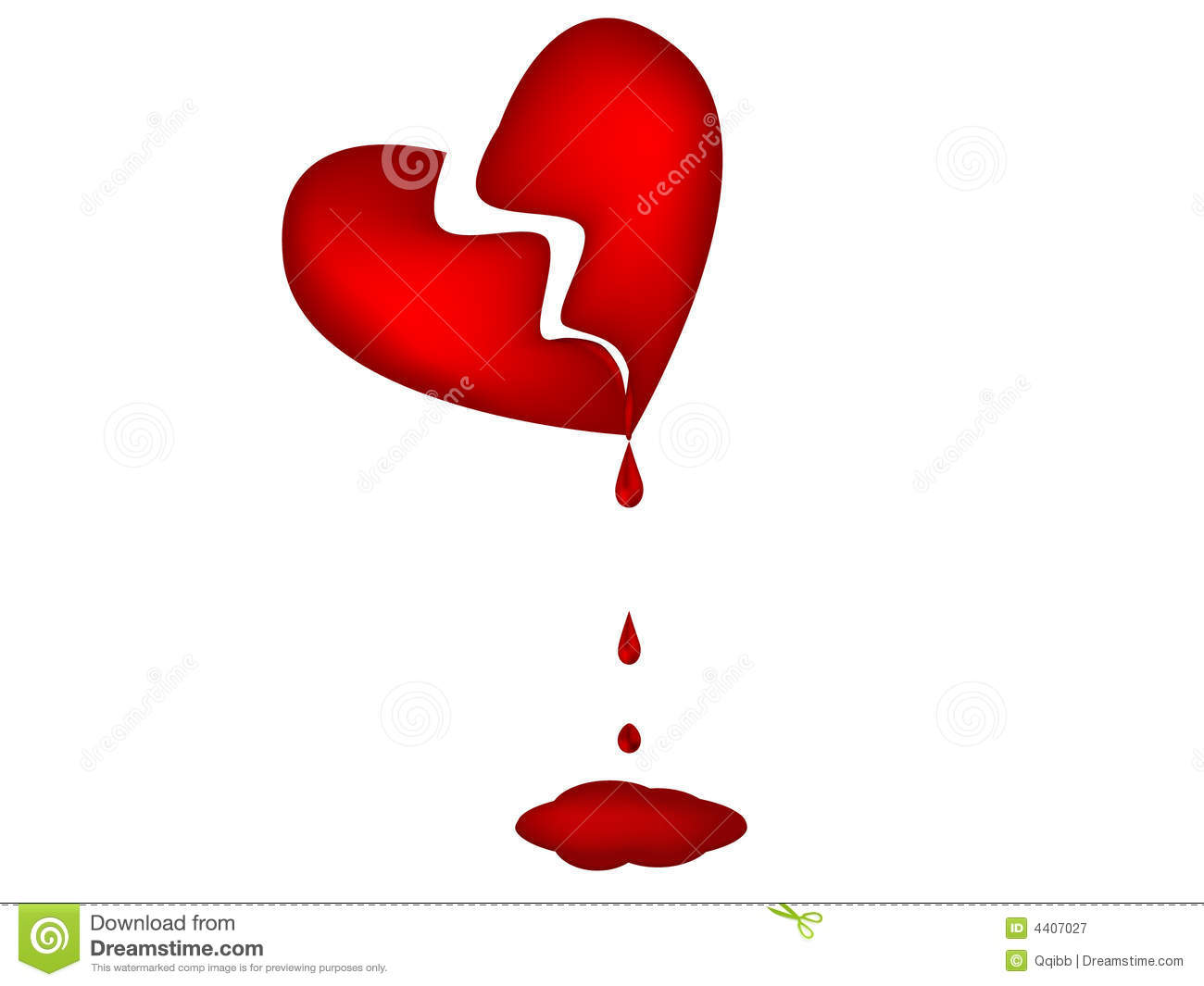 Illustration Of Bloody Heart Royalty Free Stock