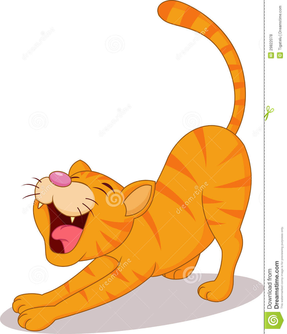 Cute Cat Stretching Royalty Free Stock Photos Image