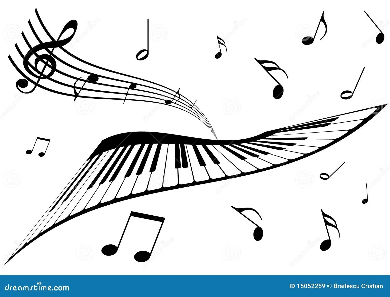 Illustration D Un Piano D Une Barre Et Des Notes De