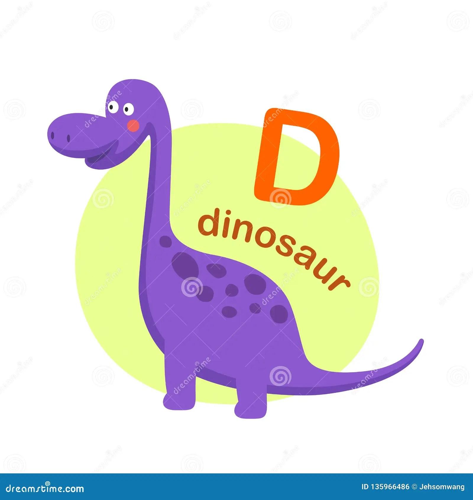 Illustration Isolated Alphabet Letter D Dinosaur Stock