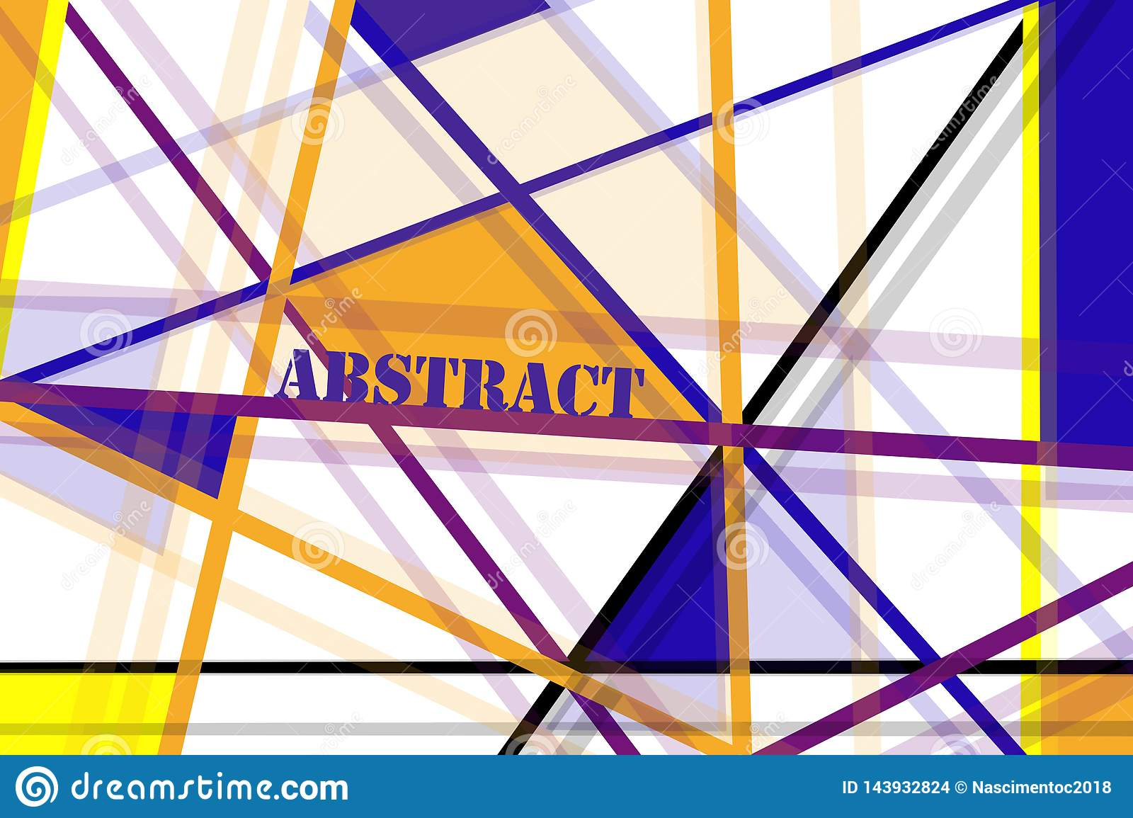 Abstract Illustration With Many Colored Lines In Vertical