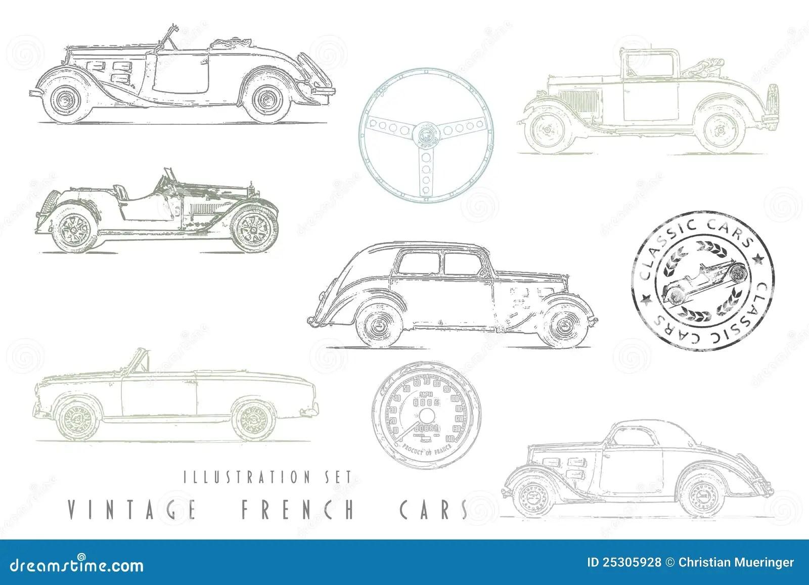 Illustration Of Cars Recreational Vehicles Camper Vans