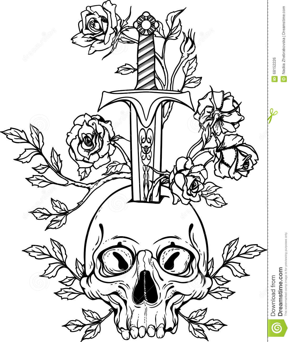Ancient Grave With Sword Royalty Free Stock Photography