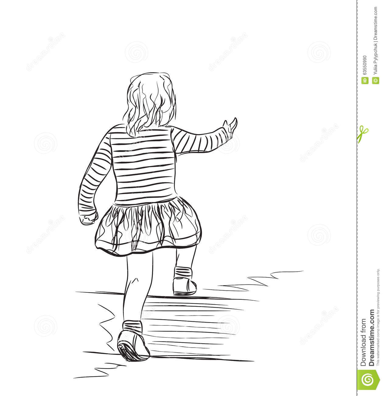 Illustration Of The Small Girl Stock Vector