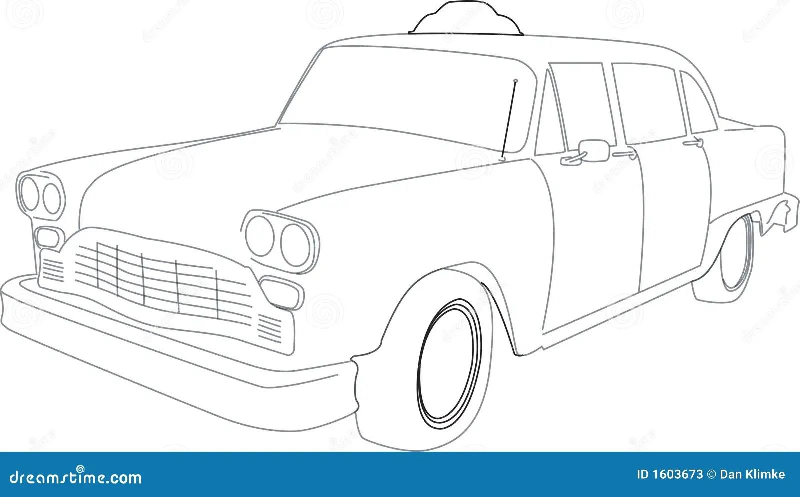 Illustration Of A Taxi Cab Stock Photos
