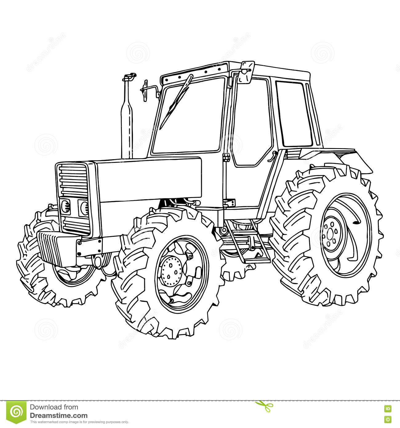 Tractor Isolated Vector Illustration Vector Illustration