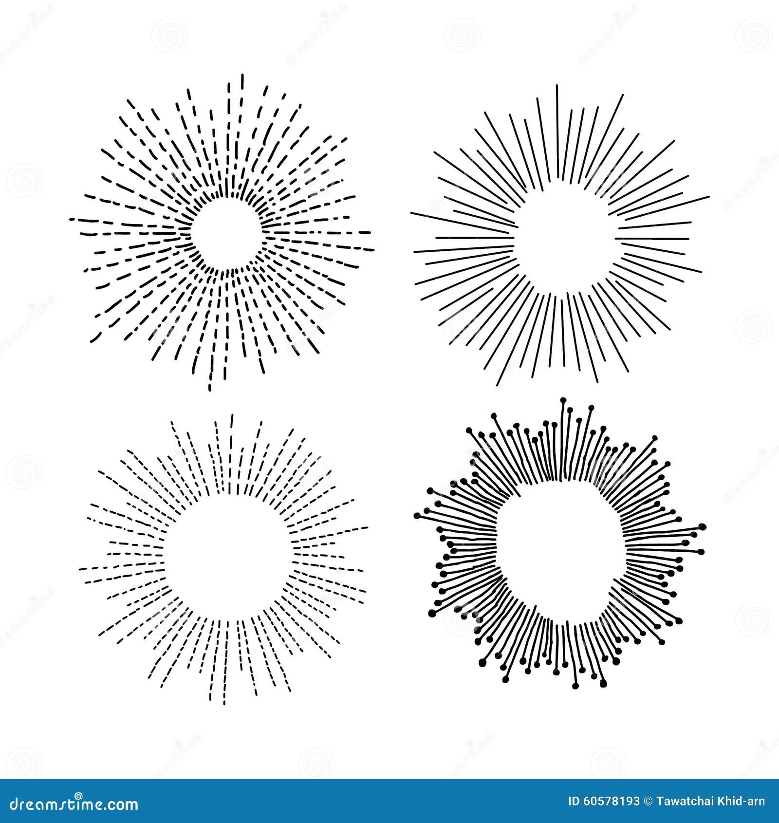 Illustration Vector Hand Drawn Doodle Set Of Starburst