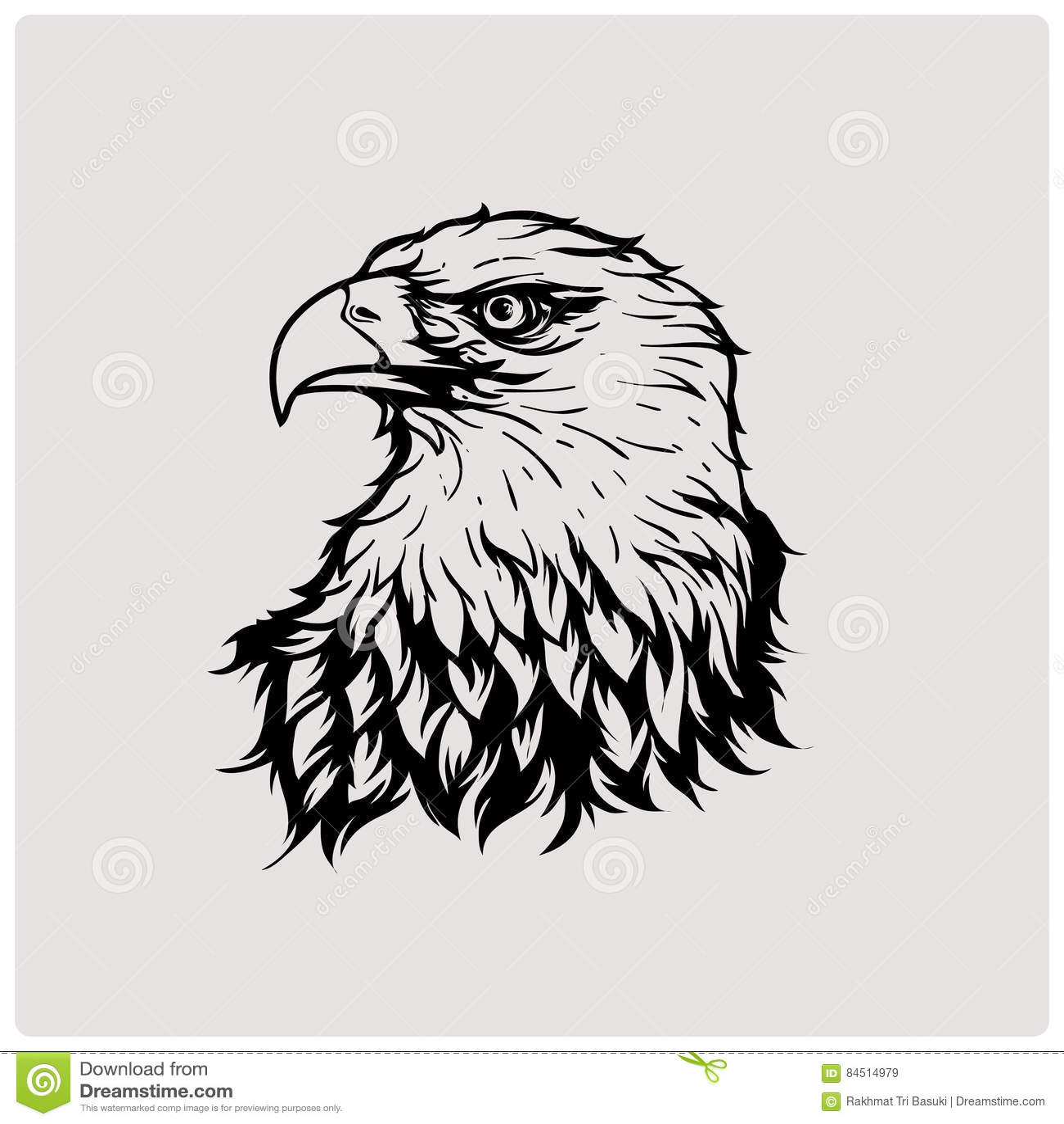 Illustration Vector Of Head Eagle Stock Vector