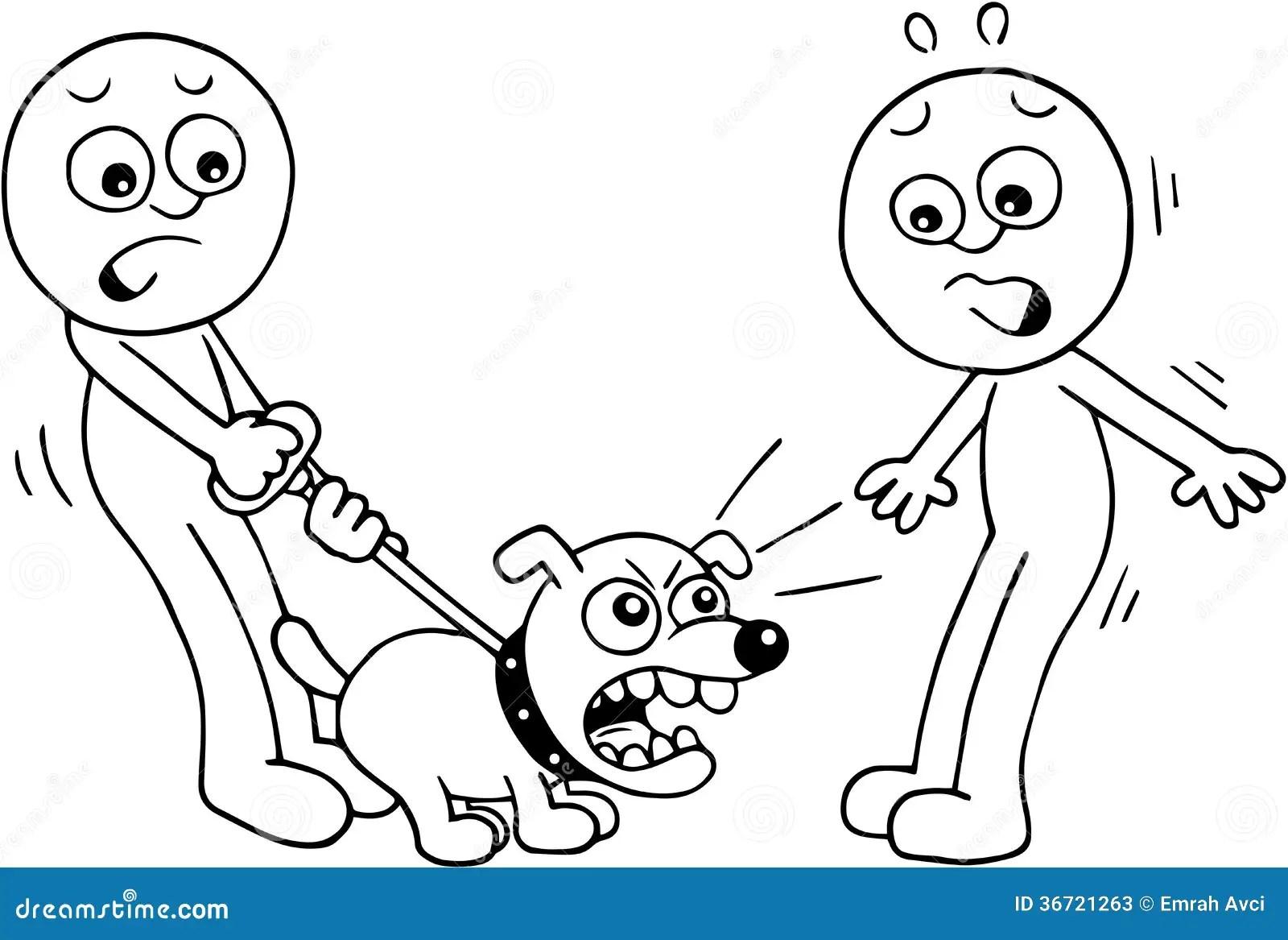 Ilsket Skalla For Hund Arkivfoton