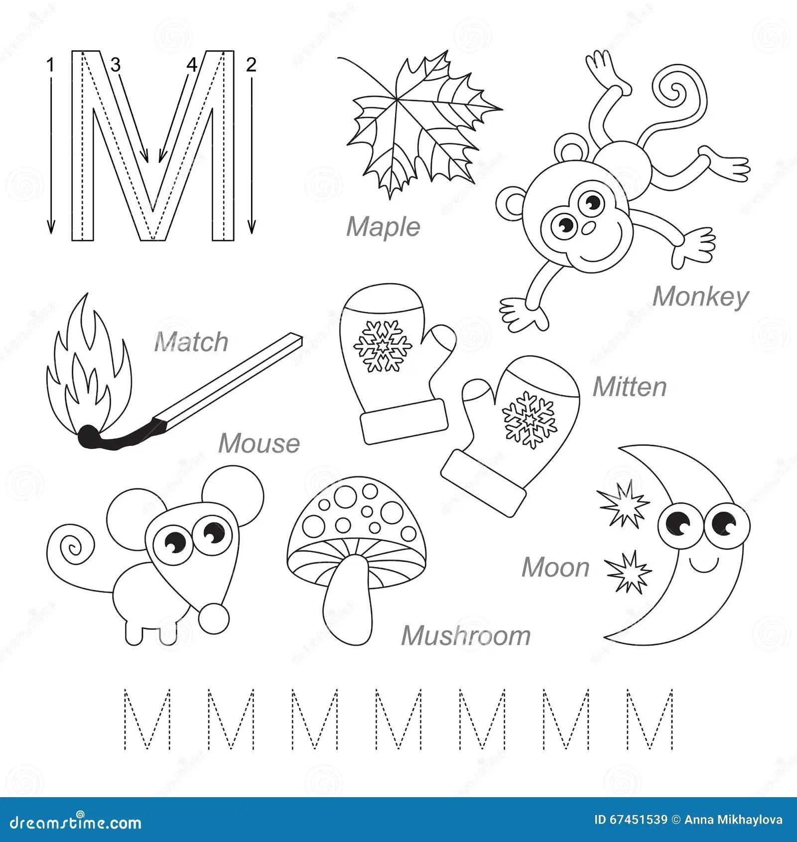 Imagenes Para La Letra M Stock De Ilustracion Ilustracion