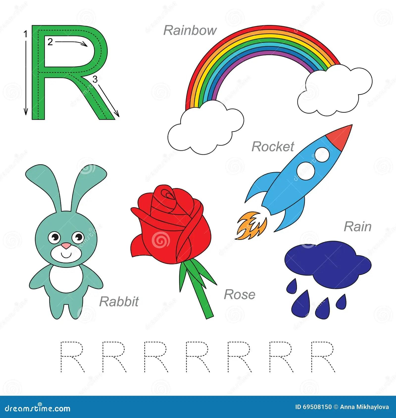 Imagenes Para La Letra R Ilustracion Del Vector Ilustracion De Historieta