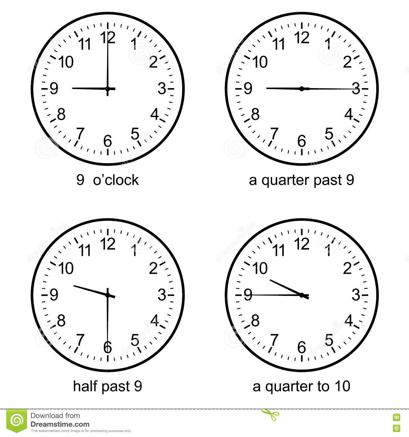 Image Of Early Learning Learn To Tell Time Wall Clock