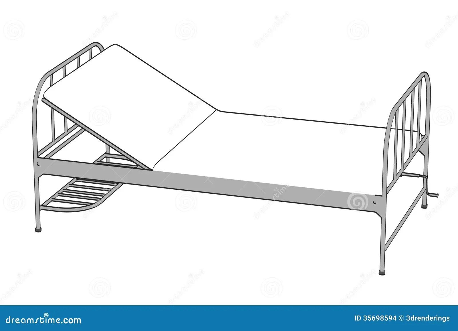 Image Of Hospital Bed Stock Illustration Illustration Of