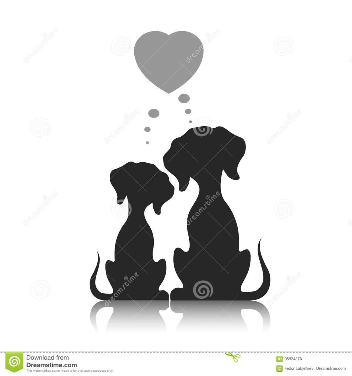 Download Dogs Dream Of Love, A Vector Illustration. Stock Vector ...