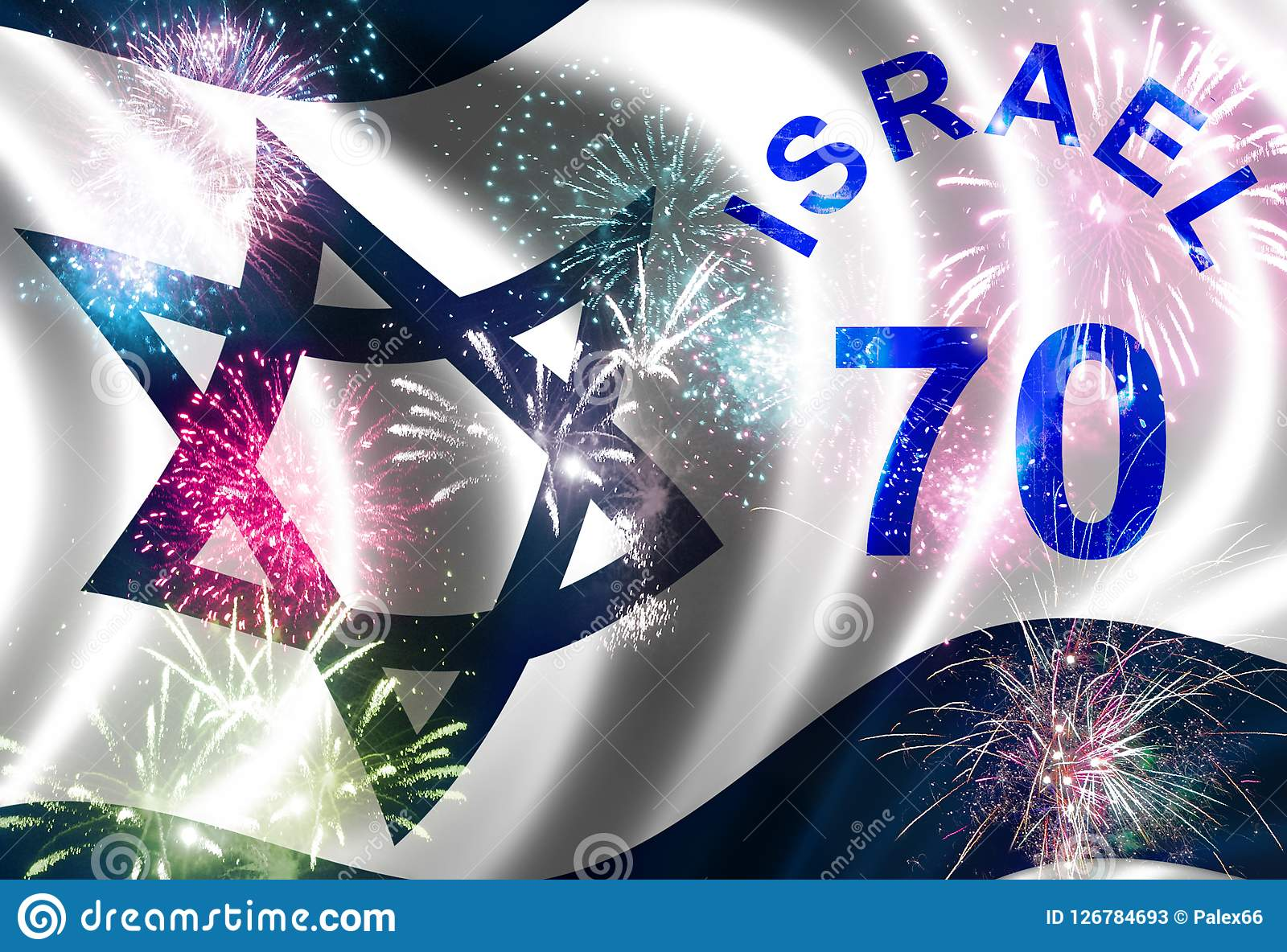 Independence Day Of Israel Stock Illustration