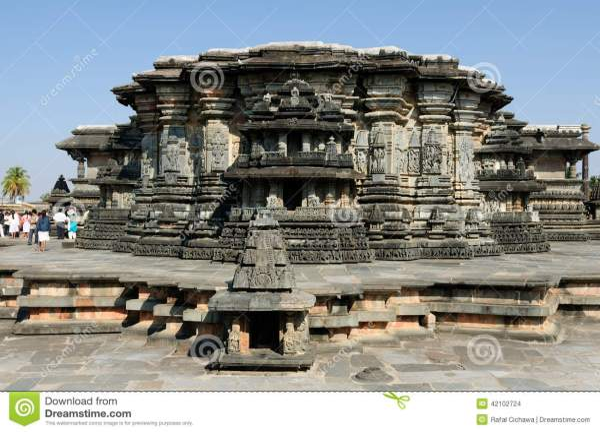 India, Chennakesava Temple In Hassan Stock Photo - Image ...
