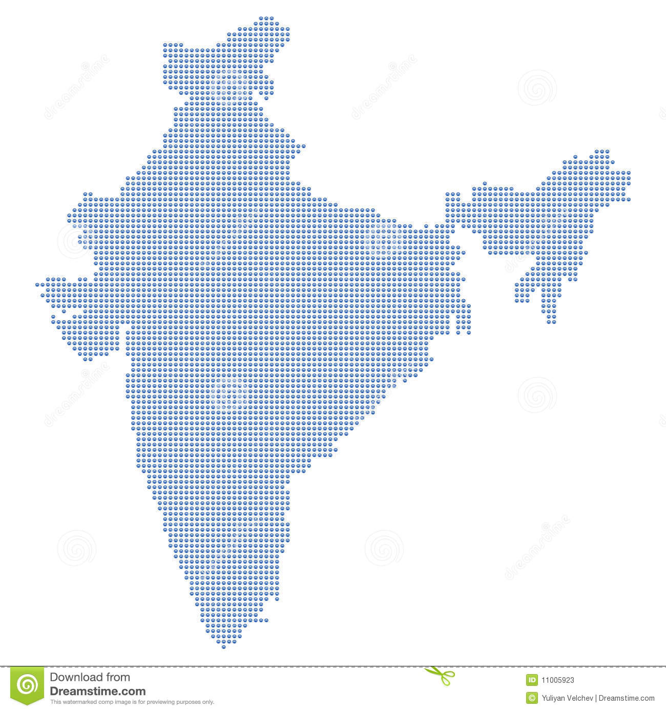 India Map Dots Stock Vector Illustration Of Design Blue