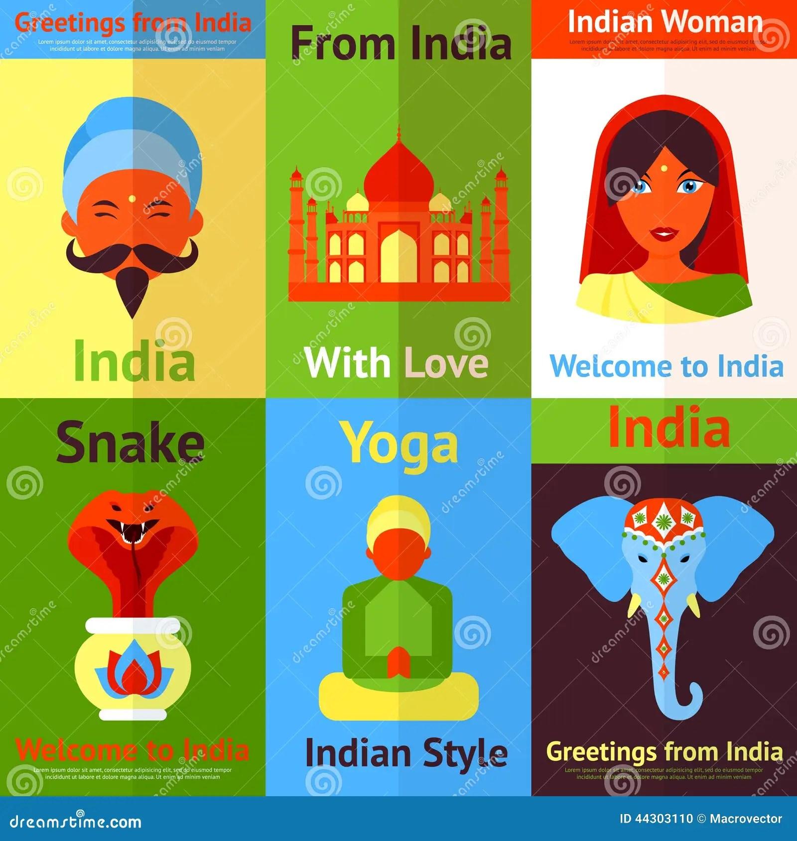India Mini Poster Stock Vector