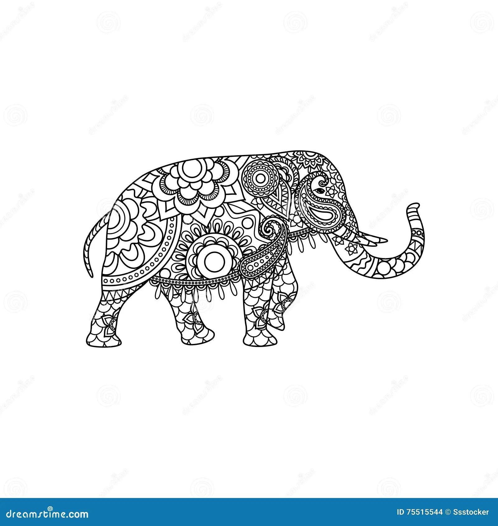 Decorative Indian Elephant Vector Illustration