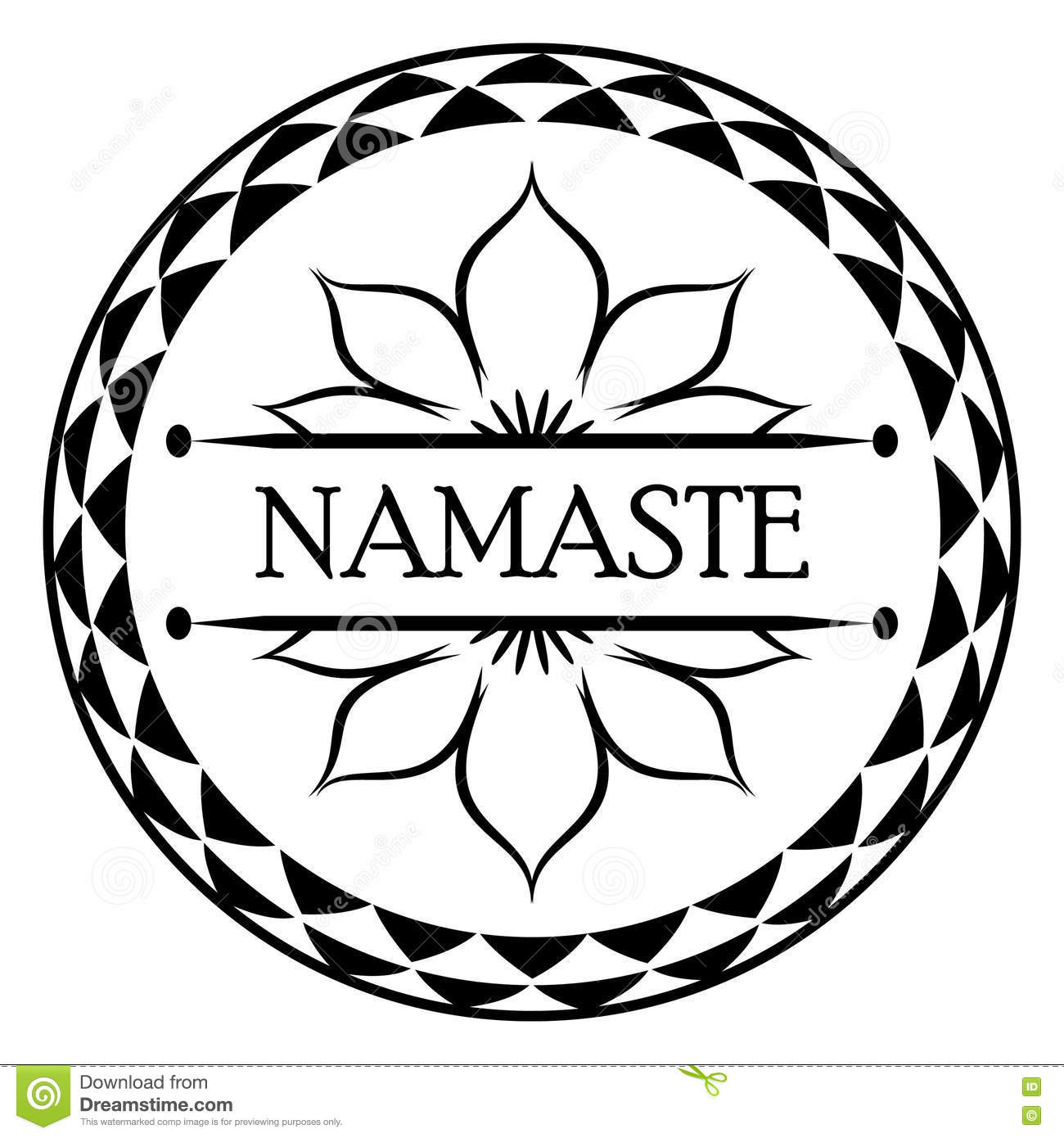 Indian Greeting Banner Namaste Stock Vector