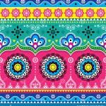 Indian And Pakistani Truck Art Design Jingle Trucks Seamless Vector Pattern Colorful Floral Repetitive Decoration Stock Illustration Illustration Of Decoration Folk 114553119