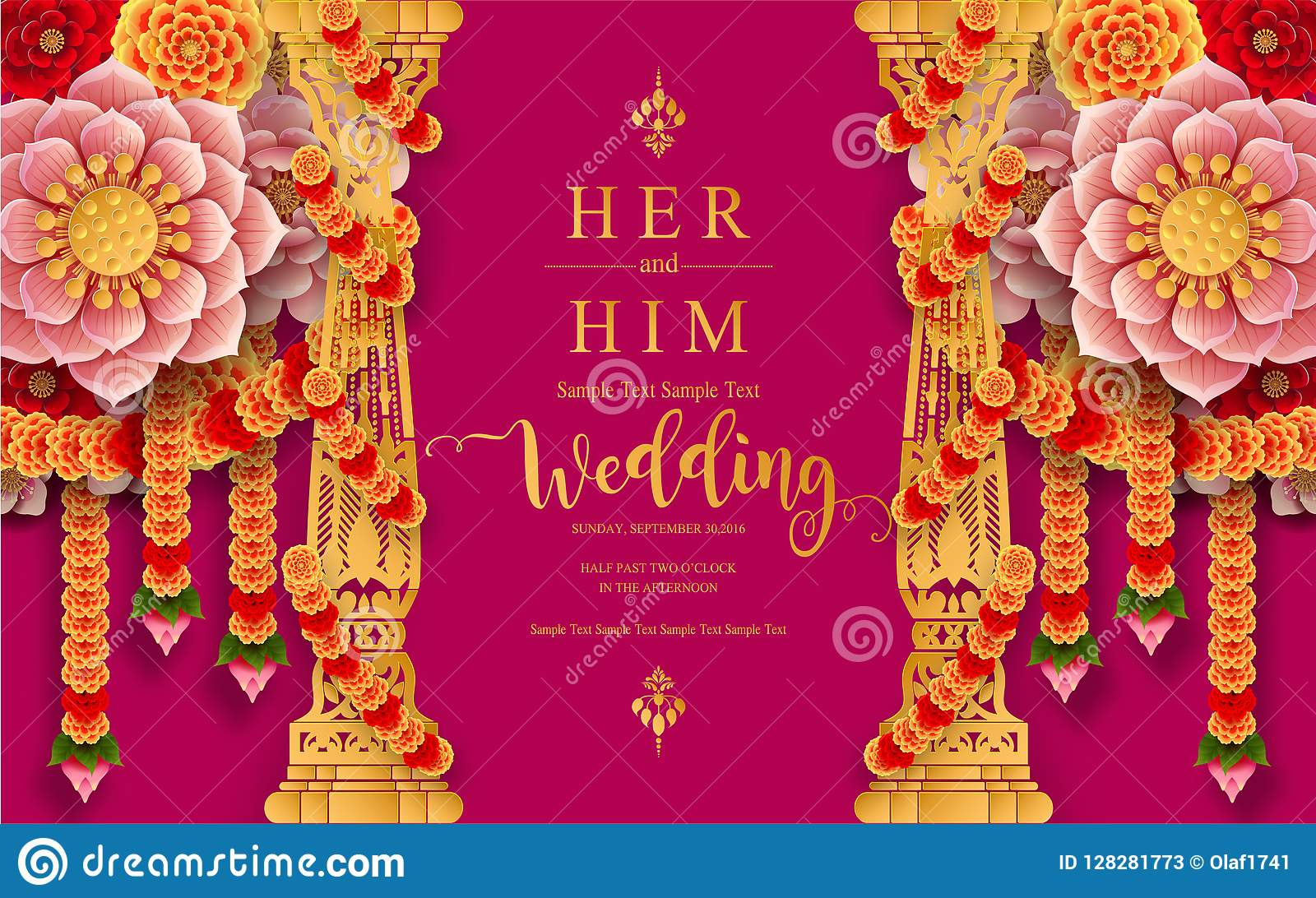 https www dreamstime com indian wedding invitation card templates gold patterned crystals paper color background inindian wedding invitation image128281773