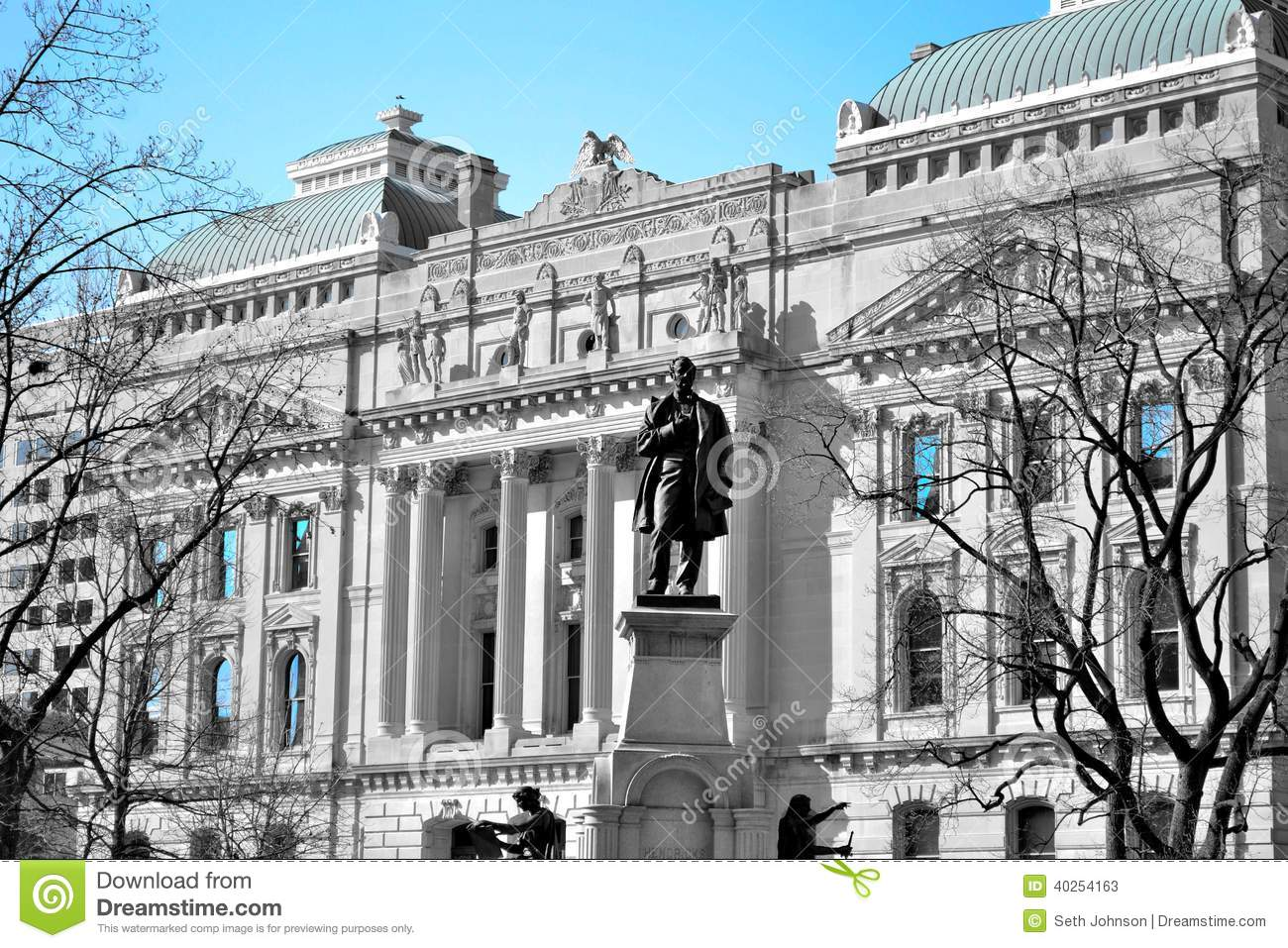Indiana Capital Stock Image Image Of City State