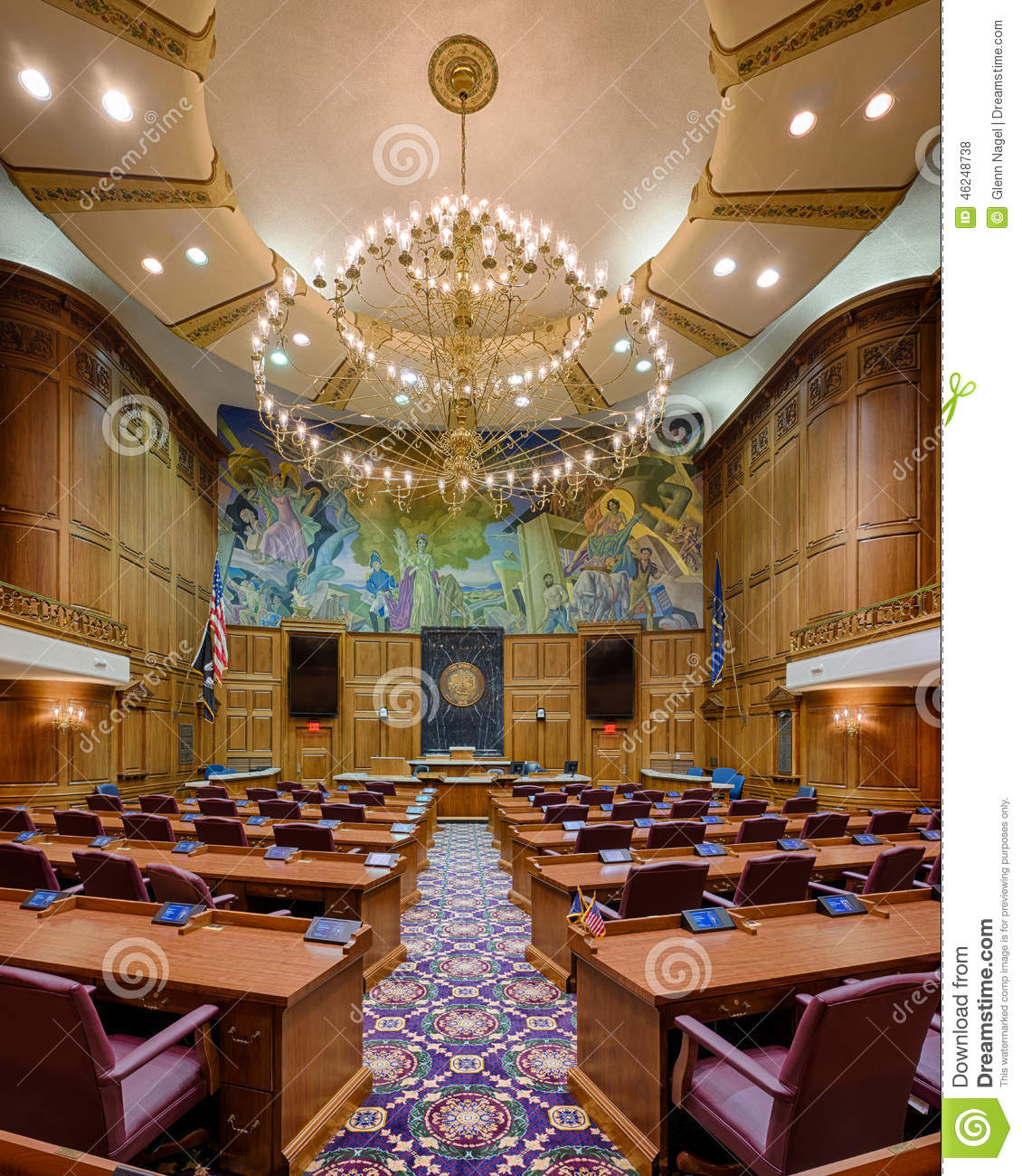 Indiana House Chamber Editorial Stock Photo Image Of