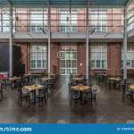 Industrial Cafe Or Restaurant Interior With Tables And Chairs In A Former Factory Building Editorial Image Image Of Indoors Indoor 175479140