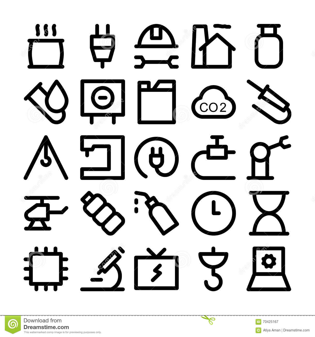 Industrial Colored Vector Icons 7 Stock Photo