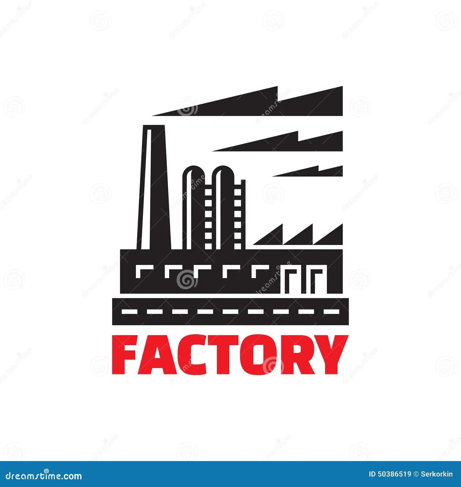 Factory Building Illustration Vector Illustration