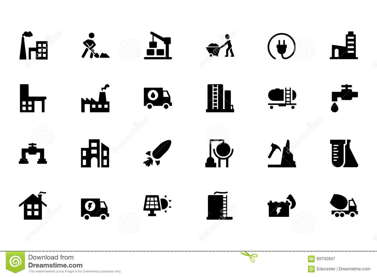 Industrial Vector Icons 4 Stock Image Image Of Plug