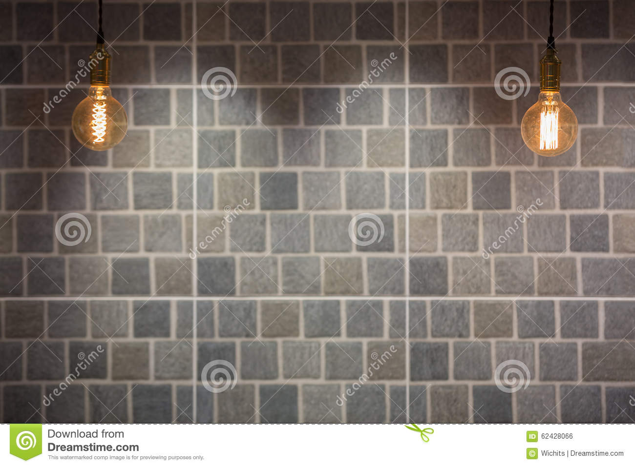 industrial and vintage style lighting bulbs stock photo image of illuminated interior 62428066