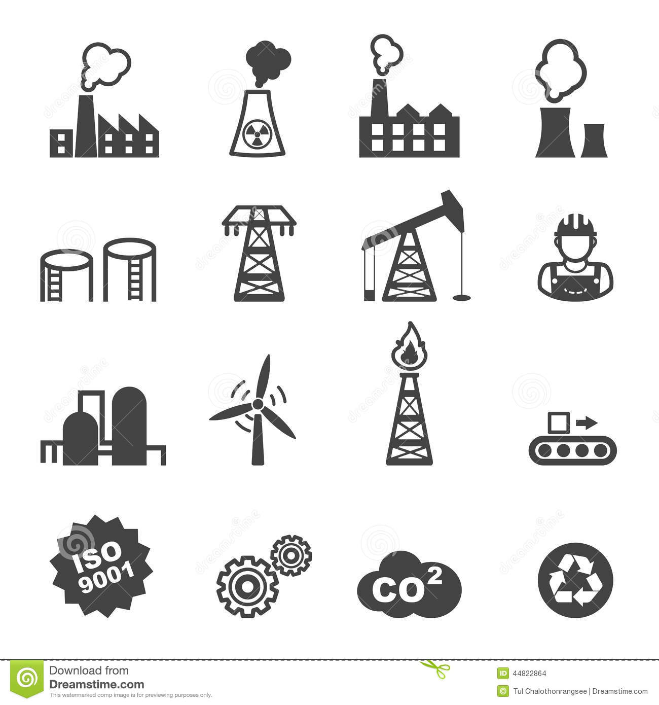 Industry Icons Stock Vector